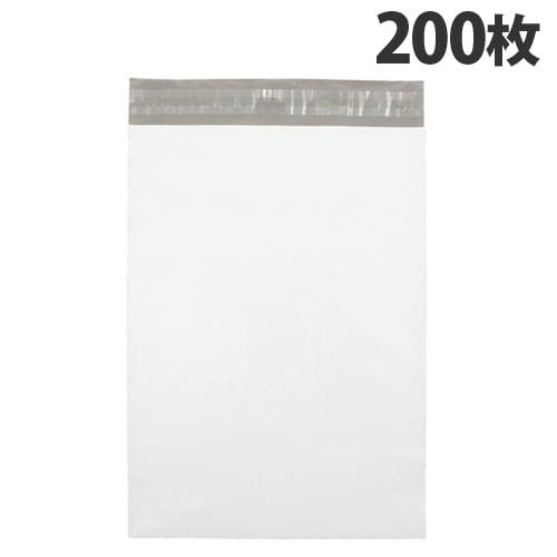カクケイ 宅配用ポリ封筒 L テープ付 200枚 TH3218: