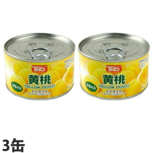 【賞味期限:22.09.13】谷尾食糧 TNO 黄桃スライス F2号缶 225g×3缶: