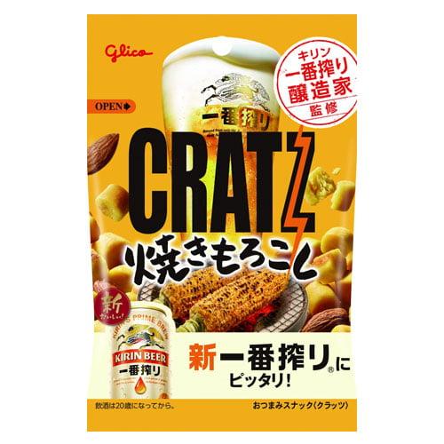 【賞味期限:22.05.31】グリコ クラッツ 焼きもろこし 42g: