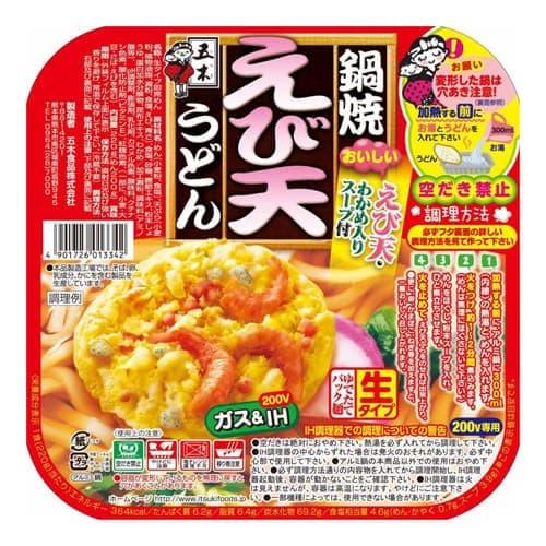 五木食品 鍋焼えび天うどん 220g:
