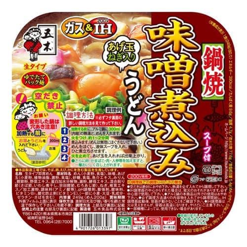 五木食品 鍋焼味噌煮込みうどん 249g: