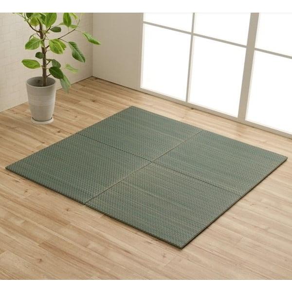 イケヒコ ユニット畳 プチカラー 60×60cm 4枚組 ブルー: