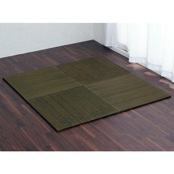 イケヒコ ユニット畳 無地 70×70cm 4枚組 グリーン:
