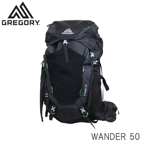 GREGORY グレゴリー バックパック WANDER ワンダー 50 50L シャドーブラック 1114740614: