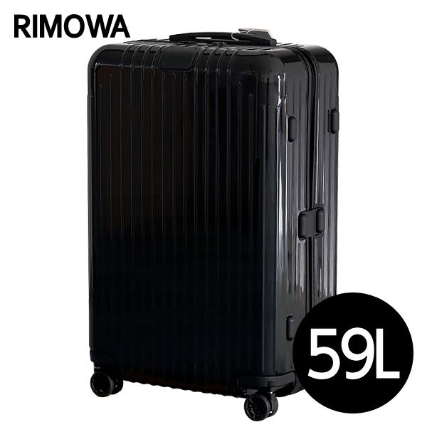 リモワ RIMOWA スーツケース エッセンシャル ライト チェックインM 59L グロスブラック ESSENTIAL Check-In M 823.63.62.4: