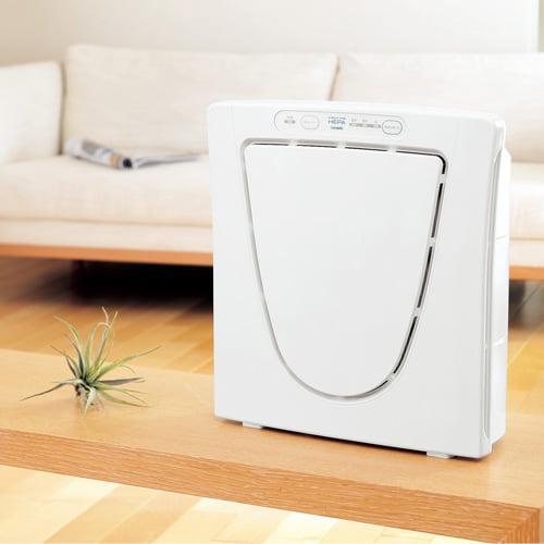 ツインバード 空気清浄機 ファンディファイン ヘパ 12畳用 ホワイト AC-4238W: