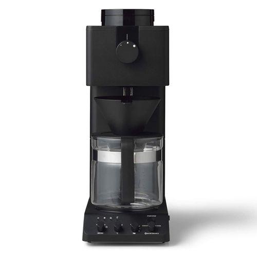 ツインバード 全自動コーヒーメーカー 6杯用 ブラック CM-D465B: