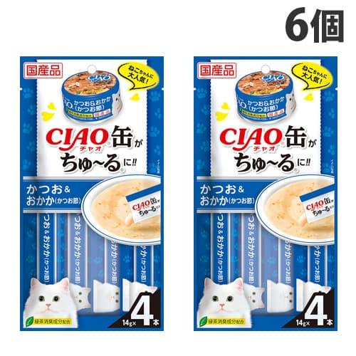 いなば CIAO 缶ちゅ~る かつお&おかか(かつお節) (14g×4本入)×6個 SC-353: