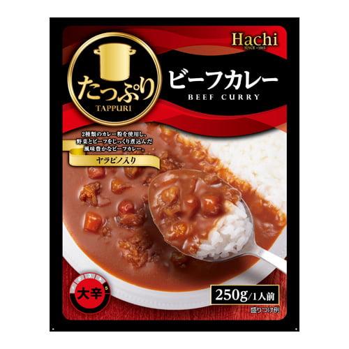 ハチ食品 たっぷりビーフカレー 大辛 250g: