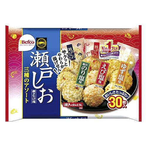 栗山米菓 瀬戸の汐揚アソート 33枚: