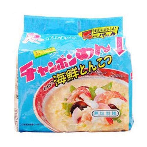 イトメン チャンポンめん 海鮮とんこつ 90g 5食入: