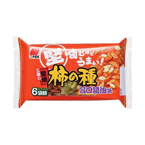 三幸製菓 三幸の堅焼柿の種 醤油味 192g: