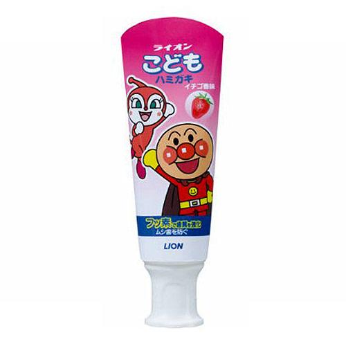 ライオン 歯磨き粉 こどもハミガキ いちご 40g【医薬部外品】: