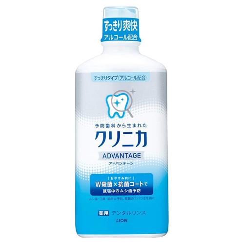 ライオン 液体ハミガキ クリニカ アドバンテージ デンタルリンス すっきりタイプ 450ml【医薬部外品】: