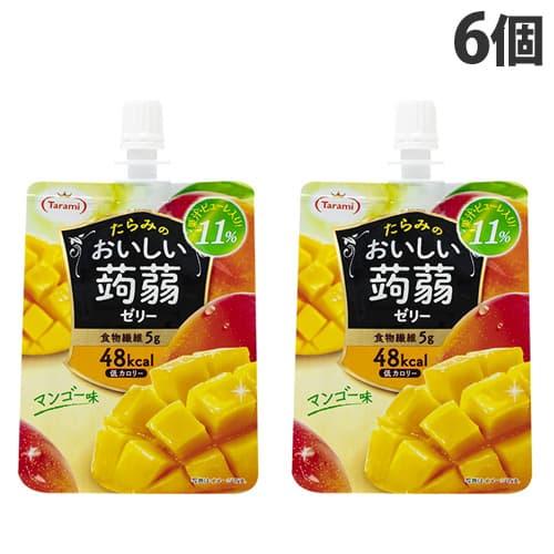 たらみ おいしい蒟蒻ゼリー マンゴー味 150g×6個: