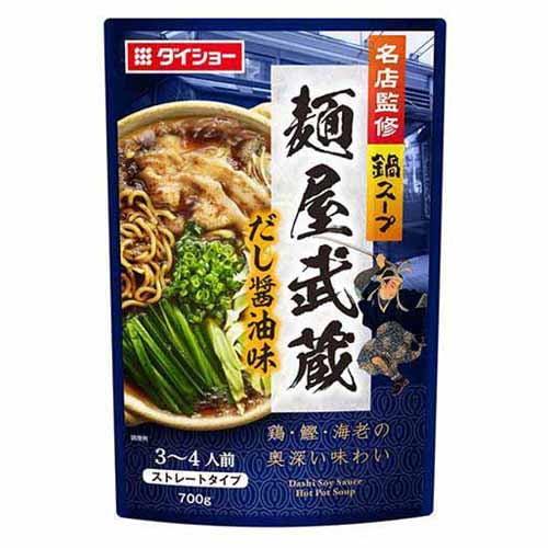 ダイショー 名店監修鍋 麺屋武蔵だし醤油味 700g: