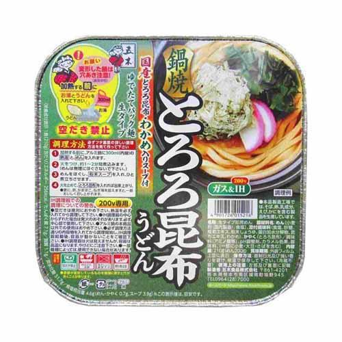 五木食品 鍋焼とろろ昆布うどん 210g: