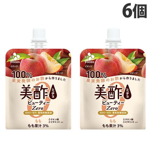 CJジャパン 美酢 ビューティーゼリー もも 130g×6個: