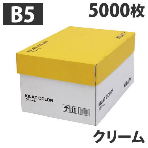 【送料無料】GRATES カラーコピー用紙 B5 クリーム 5000枚【他商品と同時購入不可】