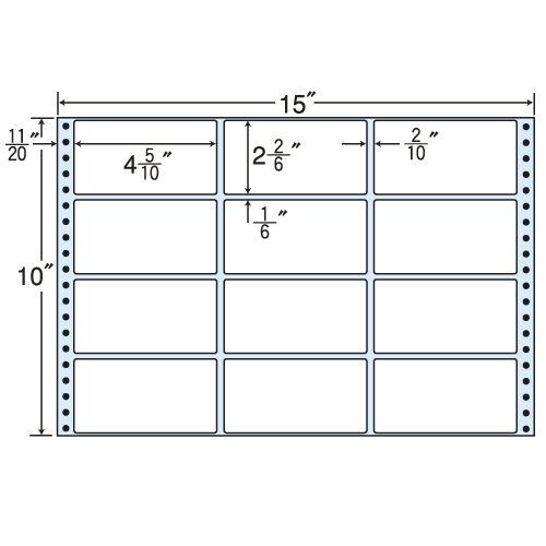 東洋印刷 タックシール nana レギュラータイプ (連続ラベル) 500折 MT15E