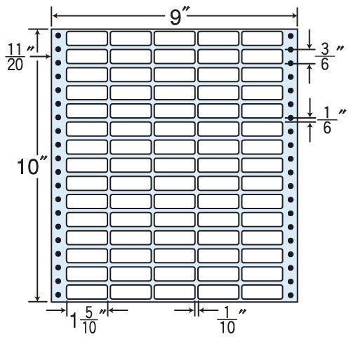 東洋印刷 タックシール nana レギュラータイプ (連続ラベル) 500折 MX9J