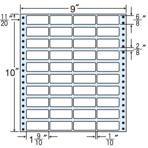 東洋印刷 タックシール nana レギュラータイプ (連続ラベル) 500折 MX9K