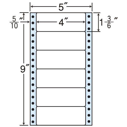 東洋印刷 タックシール nana レギュラータイプ (連続ラベル) 500折×2 MM5X
