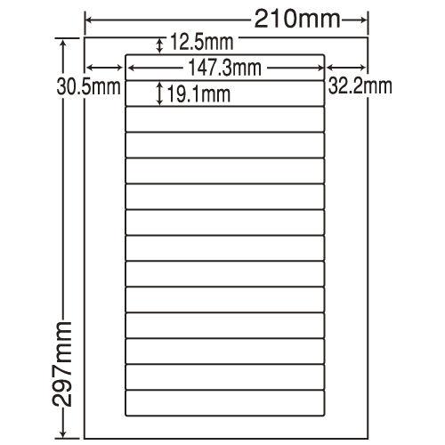 東洋印刷 ラベルシール nana 汎用タイプ A4 500シート LDW14L