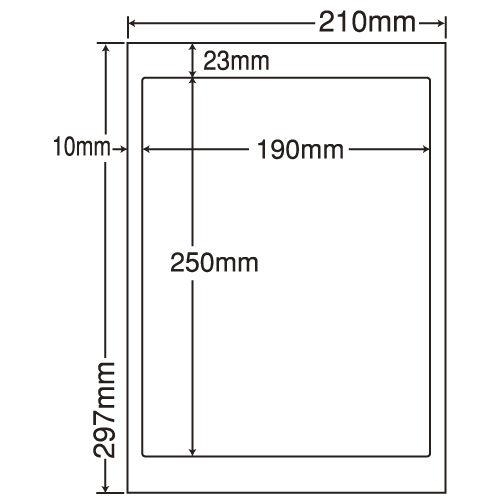 東洋印刷 ラベルシール nana 汎用タイプ A4 500シート LDW1Z