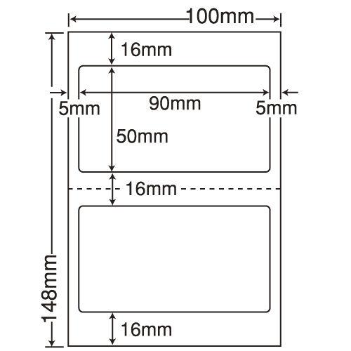 東洋印刷 医療機関向けラベル nana 汎用 ハガキ 1000シート CLH-25