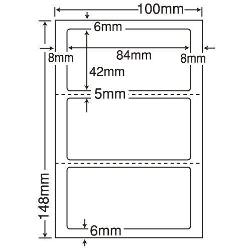 東洋印刷 医療機関向けラベル nana 汎用 ハガキ 1000シート CLH-26