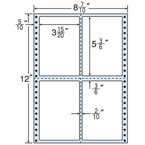東洋印刷 タックシール nana レギュラータイプ (連続ラベル) 500折 MT8F