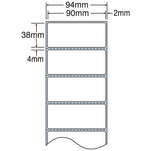 東洋印刷 nana 感熱ロールラベルシール(医療機関向け) 94mm 4巻 THR-3E