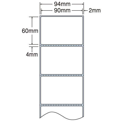 東洋印刷 nana 感熱ロールラベルシール(医療機関向け) 94mm 4巻 THR-3F