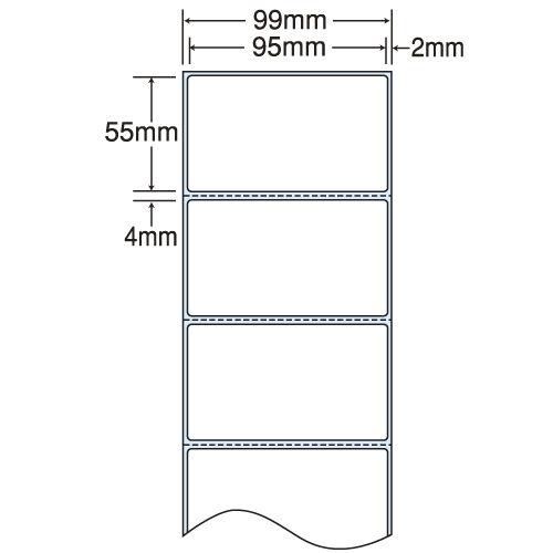 東洋印刷 nana 感熱ロールラベルシール(医療機関向け) 99mm 4巻 THR-3G