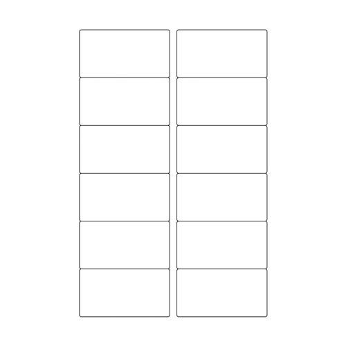 東洋印刷 タックシール2連 単票 12面 【旧品番:PA1332】 1枚 PA1332F