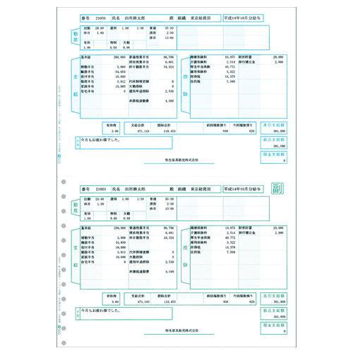PCA 給与明細書ページプリンタ用紙 単票 200029