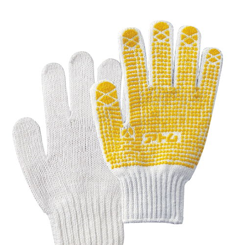 アトム すべり止め手袋 黄色 1双