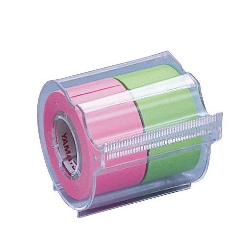ヤマト メモックロールテープ 蛍光カラー ローズライム NORK-25CH-6B