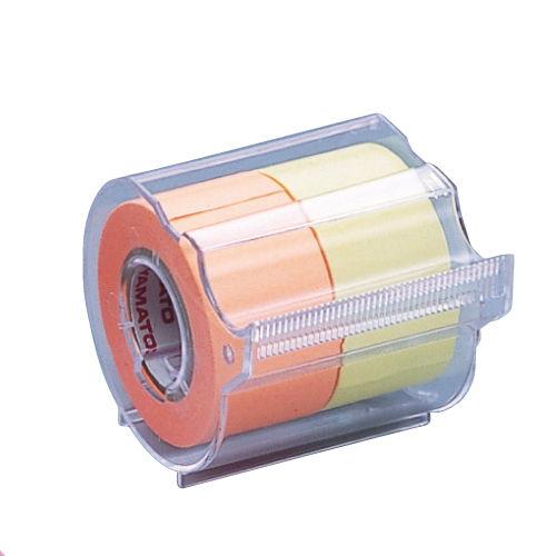 ヤマト メモックロールテープ 蛍光カラー レモンオレンジ NORK-25CH-6C