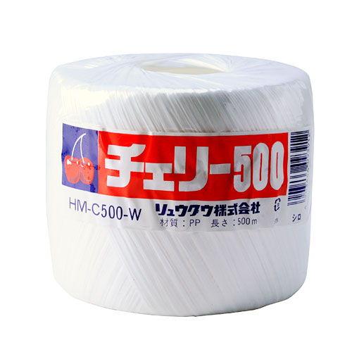 リュウグウ PP玉巻ナイロン紐 500m巻 白