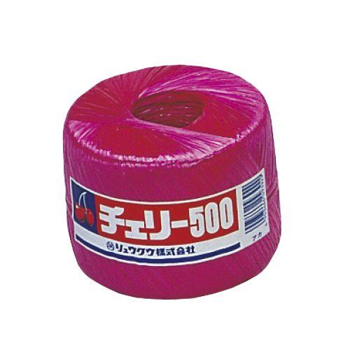 リュウグウ PP玉巻ナイロン紐 500m巻 赤
