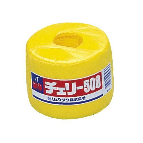 リュウグウ PP玉巻ナイロン紐 500m巻 黄
