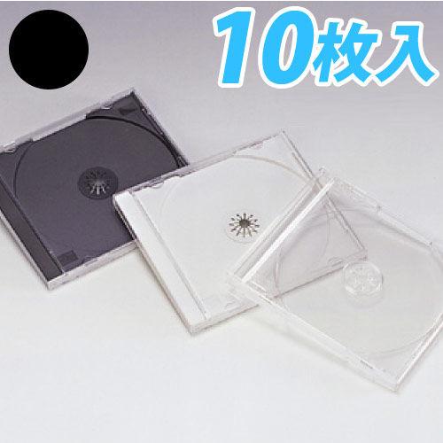 明晃化成工業 メディアケース CD/DVDケース ブラック 10枚 KSC-13C10BK