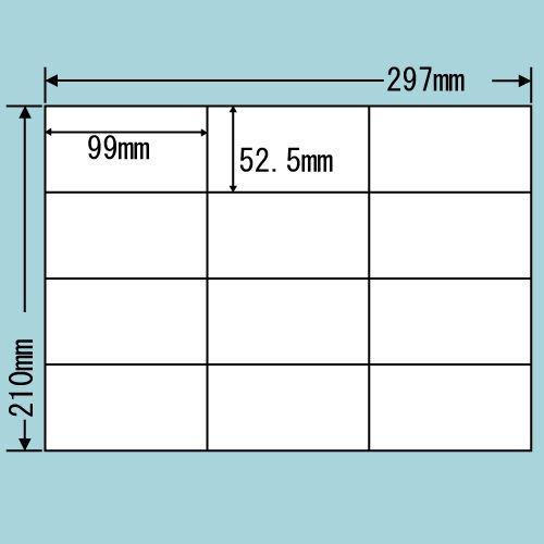 東洋印刷 ラベルシール nana 汎用タイプ A4 100シート C12G