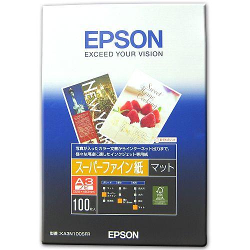エプソン スーパーファイン紙 A3ノビ 100枚