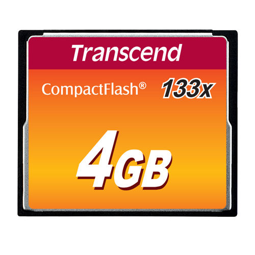 トランセンド 記録メディア コンパクトフラッシュカード133x 4GB TS4GCF133
