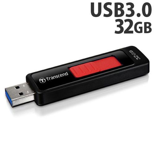 トランセンド USBフラッシュメモリ USBメモリ USB 3.1 Gen 1 32GB スライド式 ブラック TS32GJF760