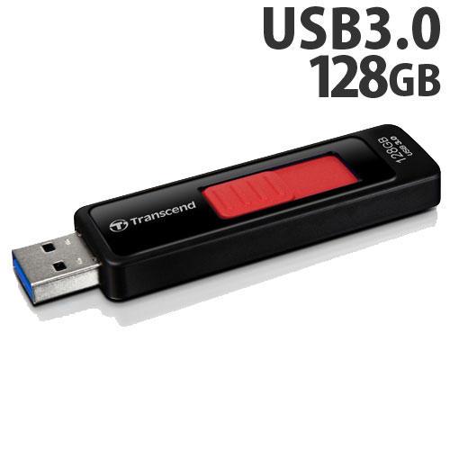 トランセンド USBフラッシュメモリ USBメモリ USB 3.1 Gen 1 128GB スライド式 ブラック TS128GJF760