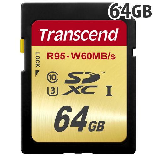 トランセンド SDカード SDXCメモリーカード SD3.0 64GB UHS Class 3 (UHS-I U3) TS64GSDU3
